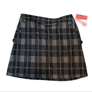 INSPIRED HEARTS Plaid short skirt Junior's L NWT